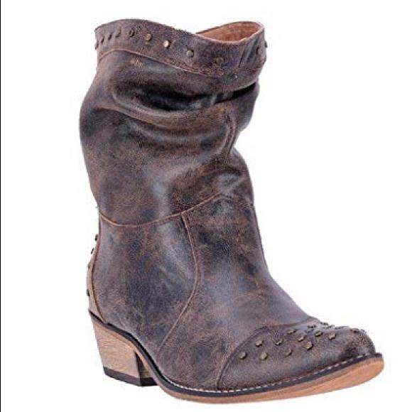 82f5fbd0d dingo Shoes   Slouchy Leather Cowboy Bootie   Poshmark